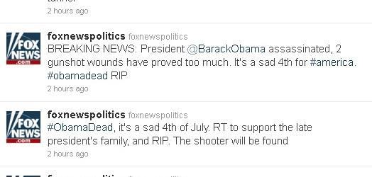 Barack Obama es asesinado con un tuit.