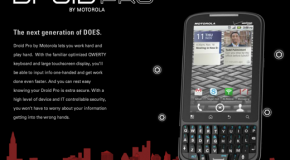 Motorola pretende bajarle los humos a BlackBerry con su nuevo Droid Pro.